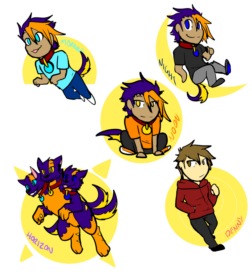Luck Chibi Badge things by DuskDragonXIII