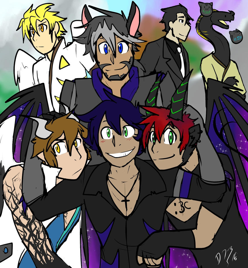 Beyond The End Big Group Thingy idk by DuskDragonXIII