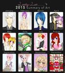 Lovely--Lust's 2015 Art Summary by Lovely--Lust
