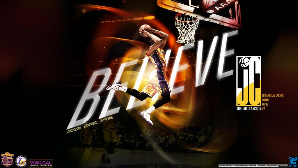 Jordan Clarkson Lakers by YaDig