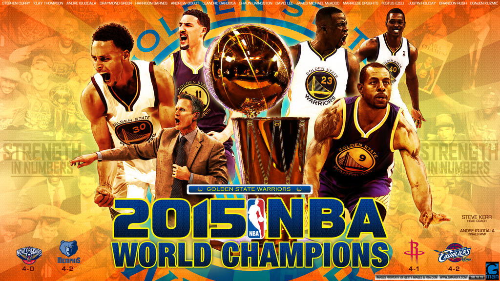 Golden State Warriors 2015 NBA Champions by YaDig