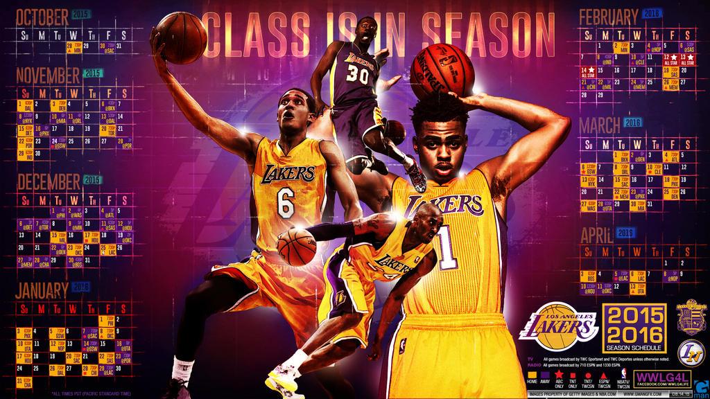 Lakers 2015-2016 Season Schedule by YaDig