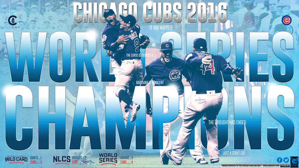 2016 World Series Champions Chicago Cubs by YaDig