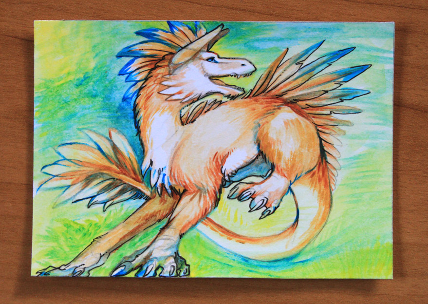 ACEO Shadowmanic by Leundra