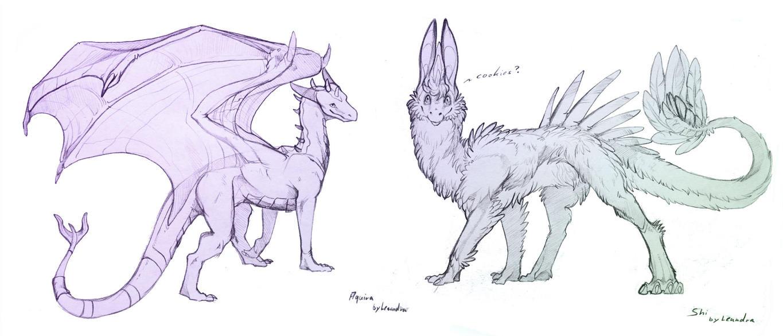 Aquira and Shi by Leundra