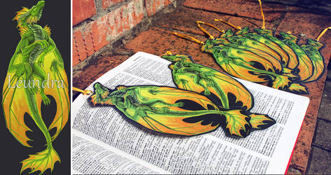 Dragon bookmarks by Leundra