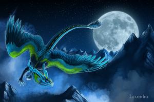 Night flight by Leundra