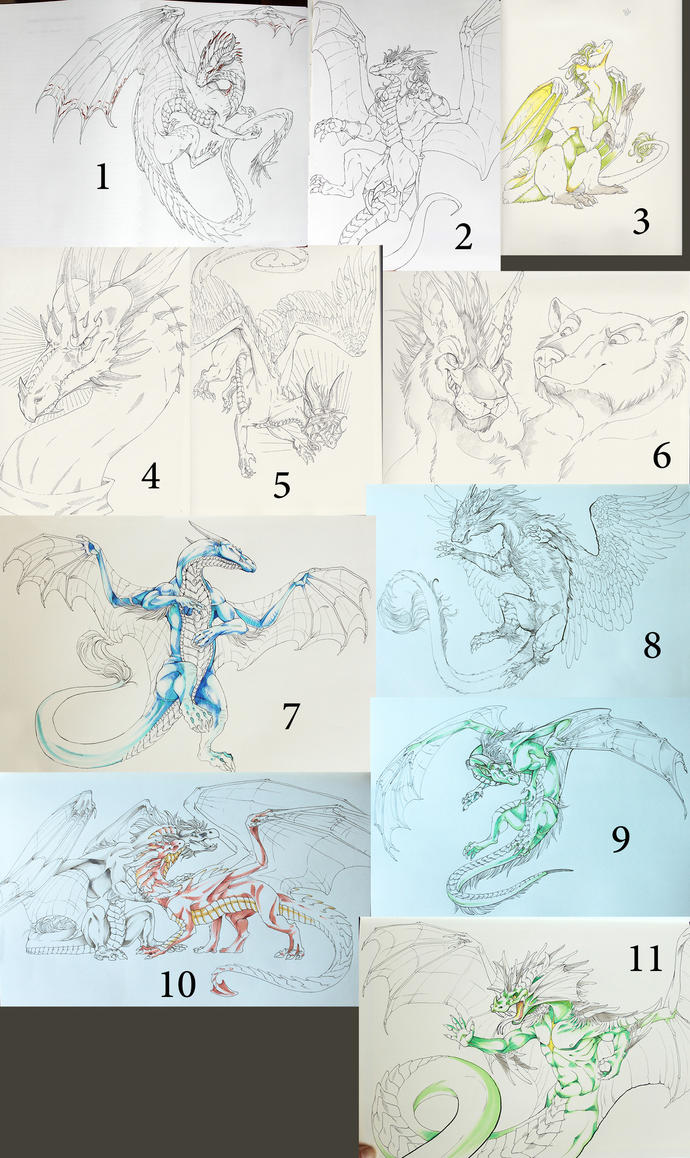 Sketchbook drawings by Leundra