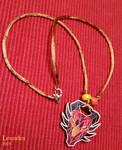 Wooden dragon pendant