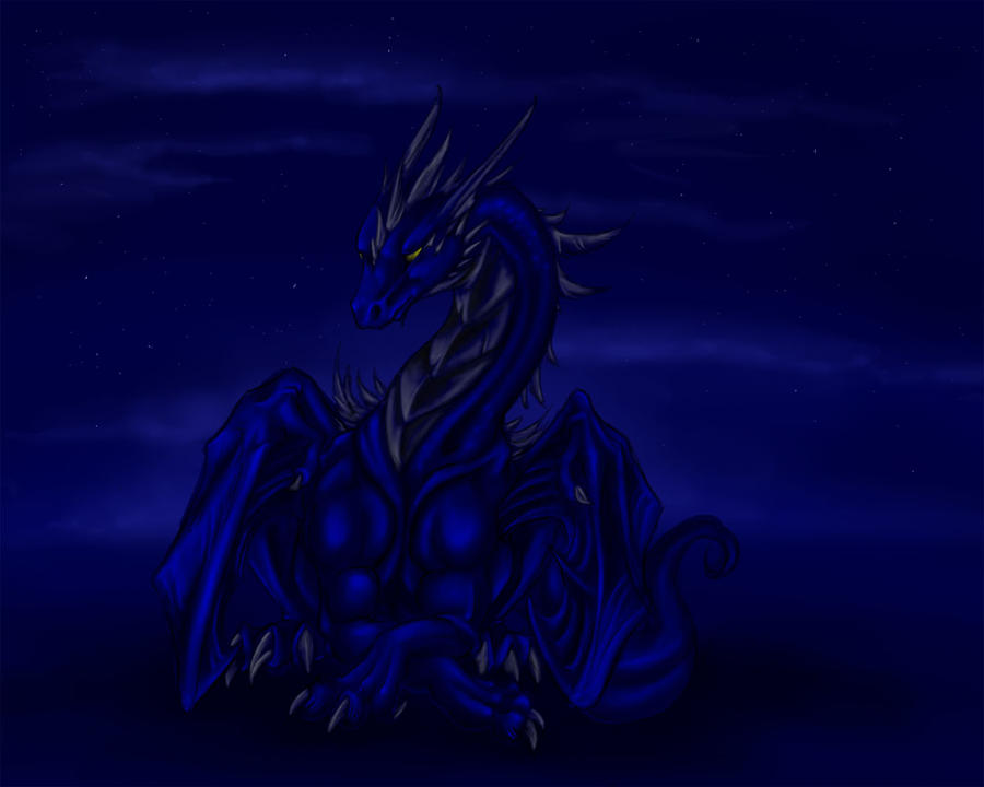 Umbra, the dark light-dragon by Leundra
