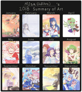 Misa's Summary of Art - 2018 by indidere