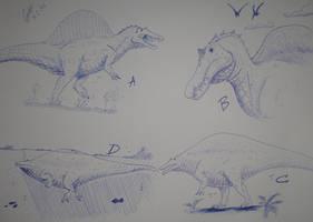 Spinosaurus designs by Carlosdino