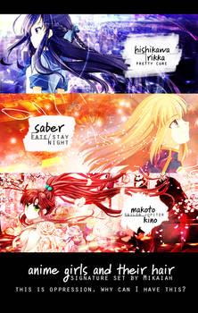 Anime Girls + Hair   signature set