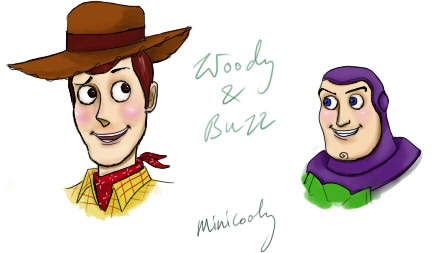 woody buzz drawing by minicoolyWoody And Buzz Drawing