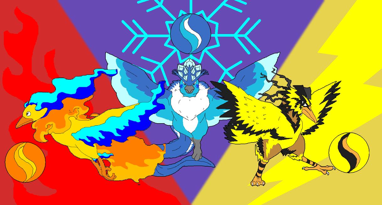 Mega Legendary Birds Mega bird trio by cret...