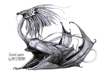 Traditional art auction: Carnival wyvern by RayEtherna