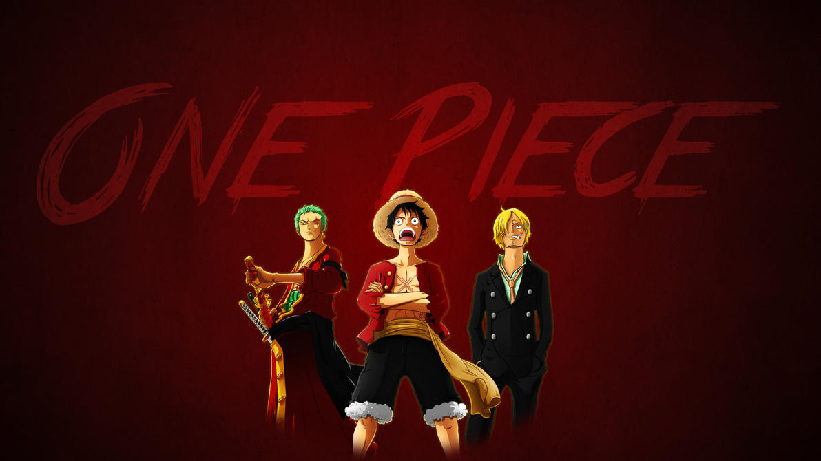 ONE PIECEのルフィとゾロとサンジ