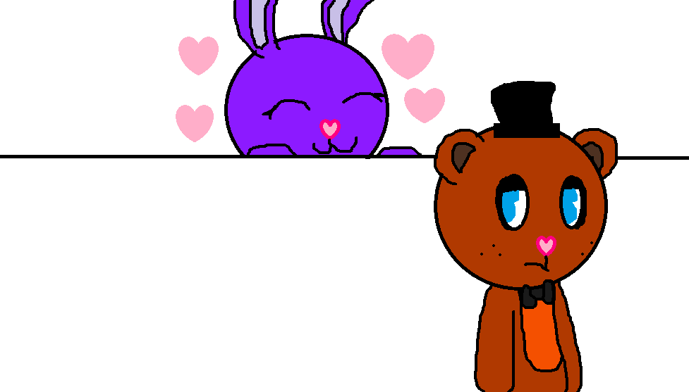 HTF FNAF Freddy x female Bonnie animation frame by epicparadot