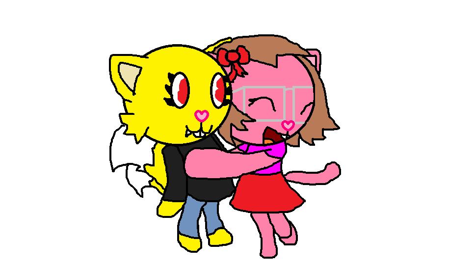 April and Hannah (tails090) by epicparadot