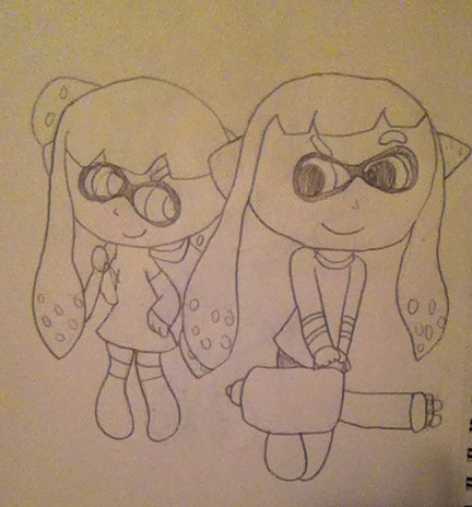 Splatoon me and tails090 by epicparadot