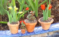 Spring pots by mamasclay