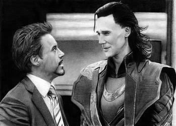 The Avengers - Tony Stark and Loki by SmoothCriminal73