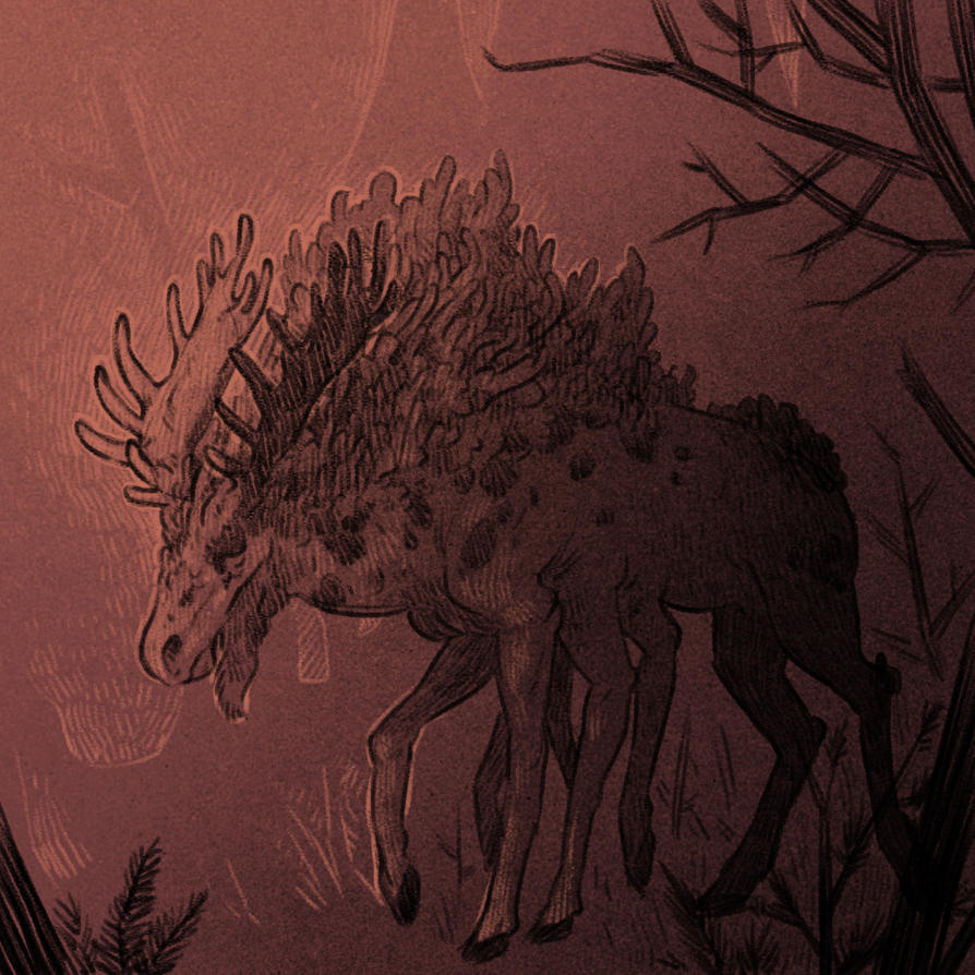 Boneworm infected moose (Defans Amis) by cowboypunk