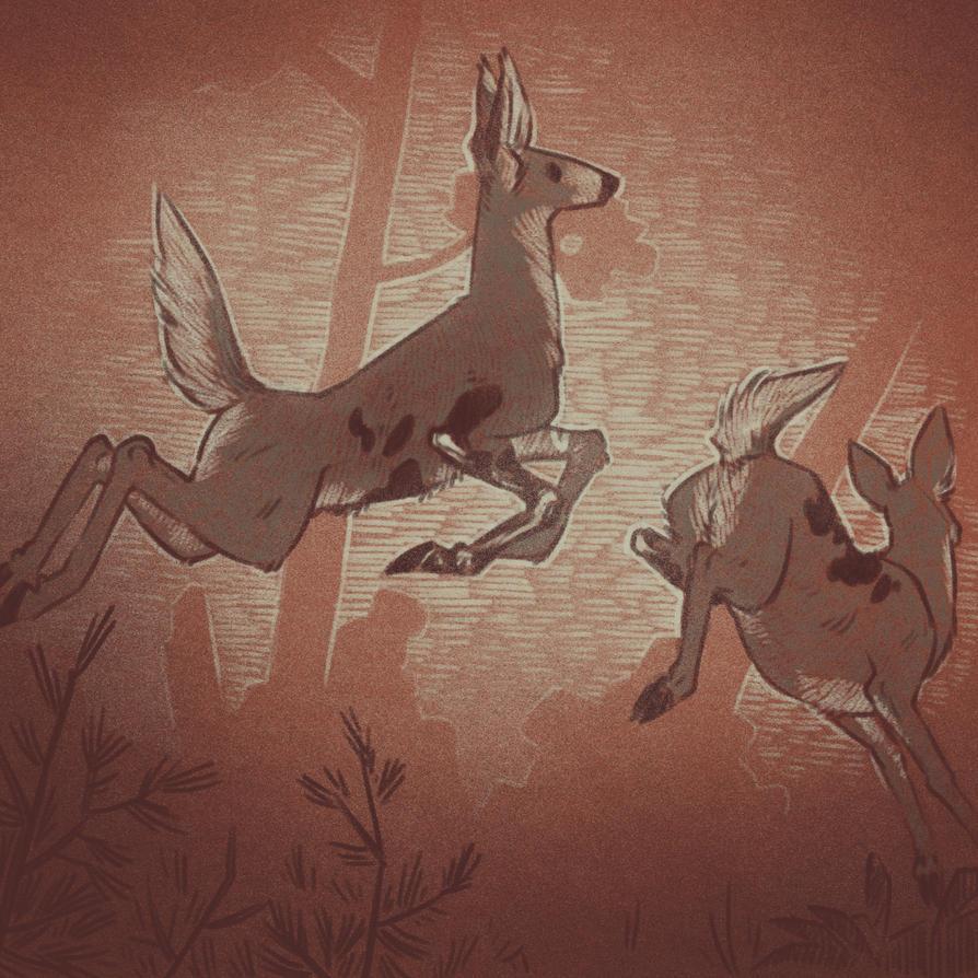 Boneworm infected deer 1 (Defans Amis) by cowboypunk
