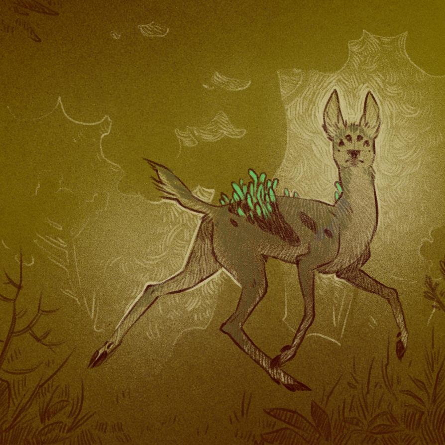 Boneworm infected deer 2 (Defans Amis) by cowboypunk