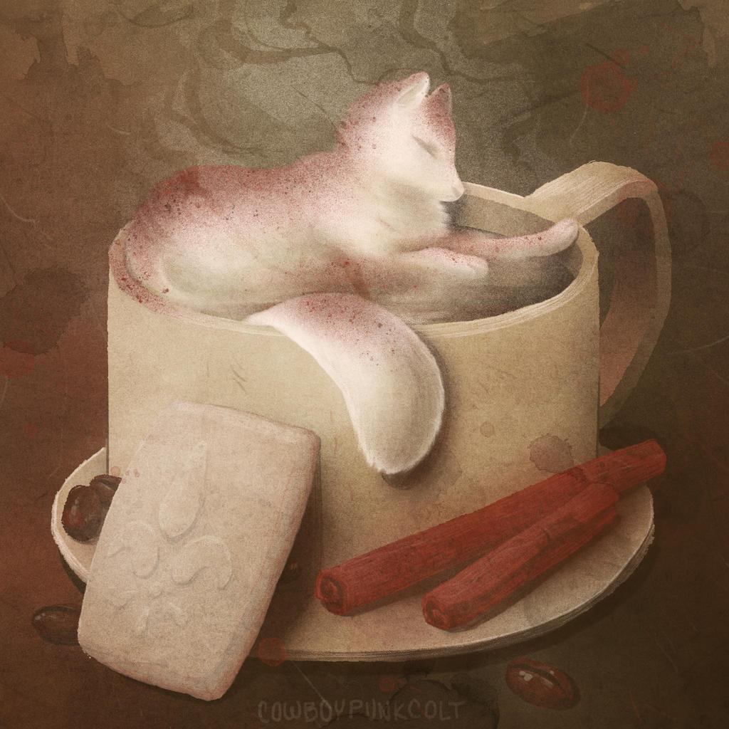 Coffee Fox by cowboypunk