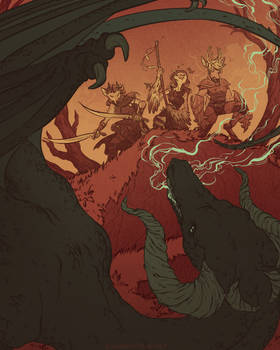 Party V. Black Dragon (commission)