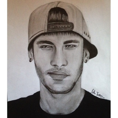 Neymar pencil drawing by s3linturan