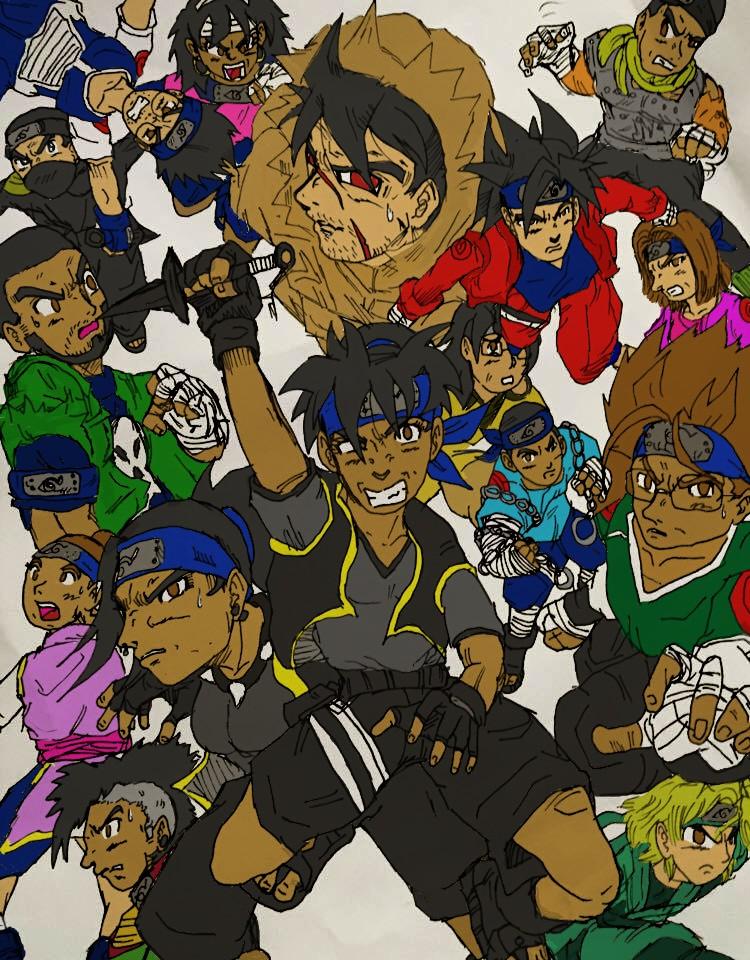 Wcn Ninjas Crew Colored by ZRandomAnimations