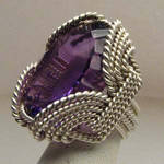 Concaved Cut Amethyst by JandSGems