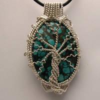 Tree of Life Turquoise Pendant by JandSGems