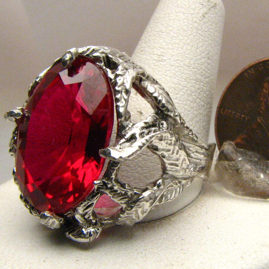 Ruby Stone Solid Sterling Silver Vine Ring Jewelry by JandSGems on DeviantArt