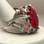New Man Mad Ruby Stone Solid Sterling Silver Vine