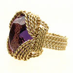What do you think Wire Wrap Gold  Amethyst Ring