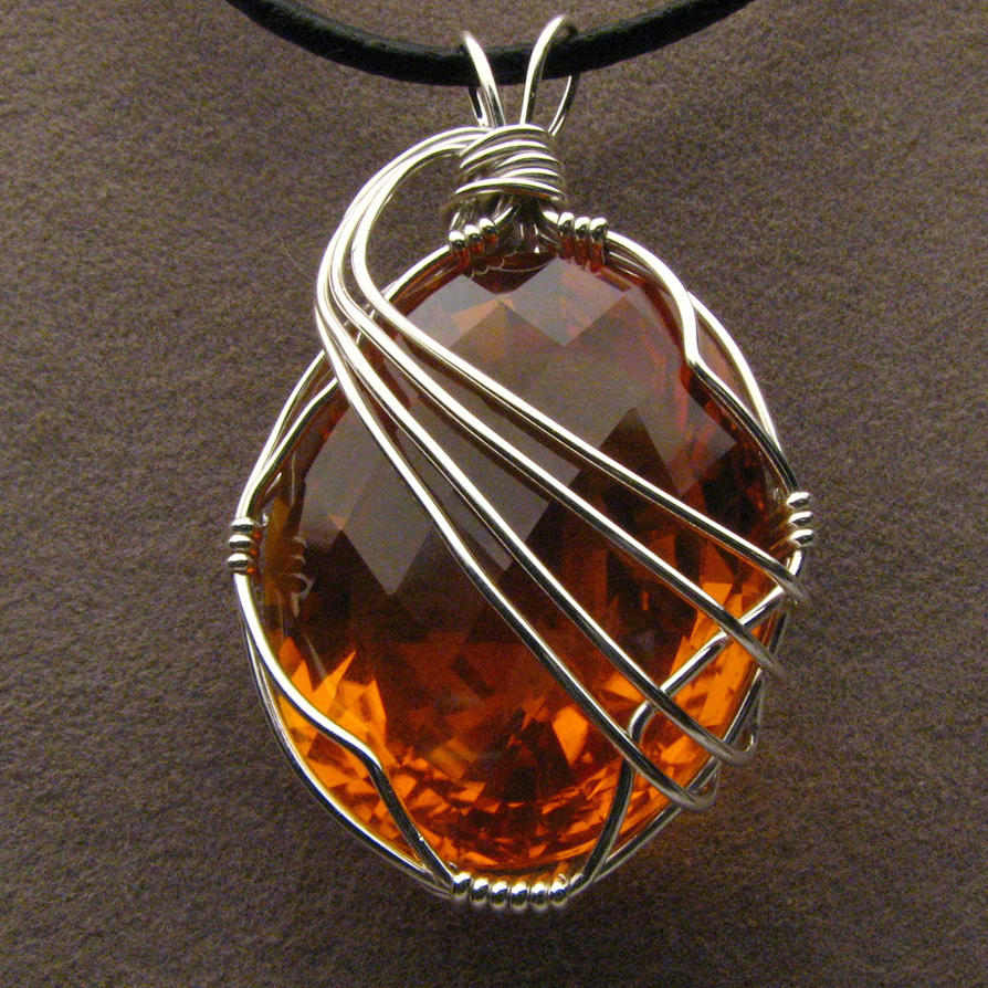 Wire Wrapped Jewelry : Wire wrapped golden citrine pendant by jandsgems on deviantart