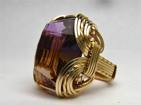 Wire Wrapped Ametrine
