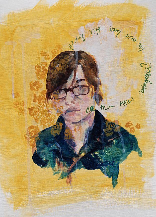 self portrait - acrylic by gatling-gun