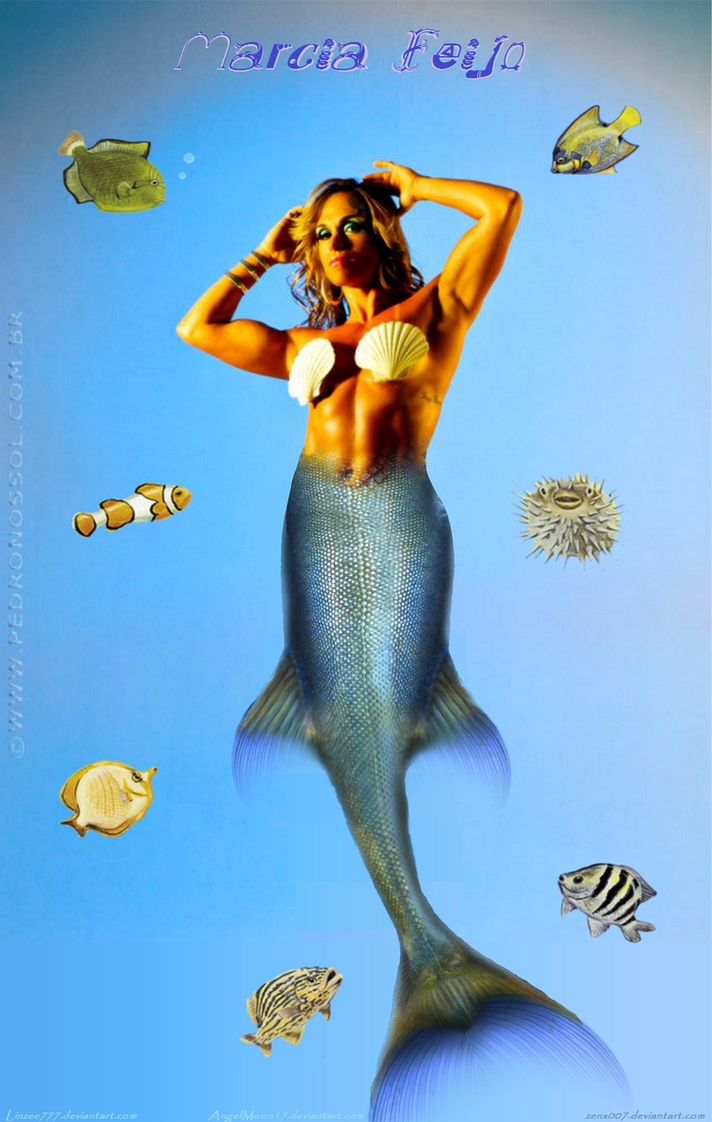 Mighty Mermaid Marcia Feijo by zenx007
