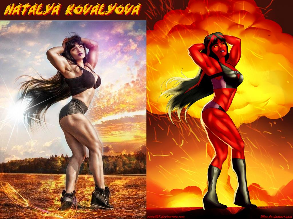 EXPLOSIVE Red She-Hulk Natalya Kovalyova By Ulics by zenx007