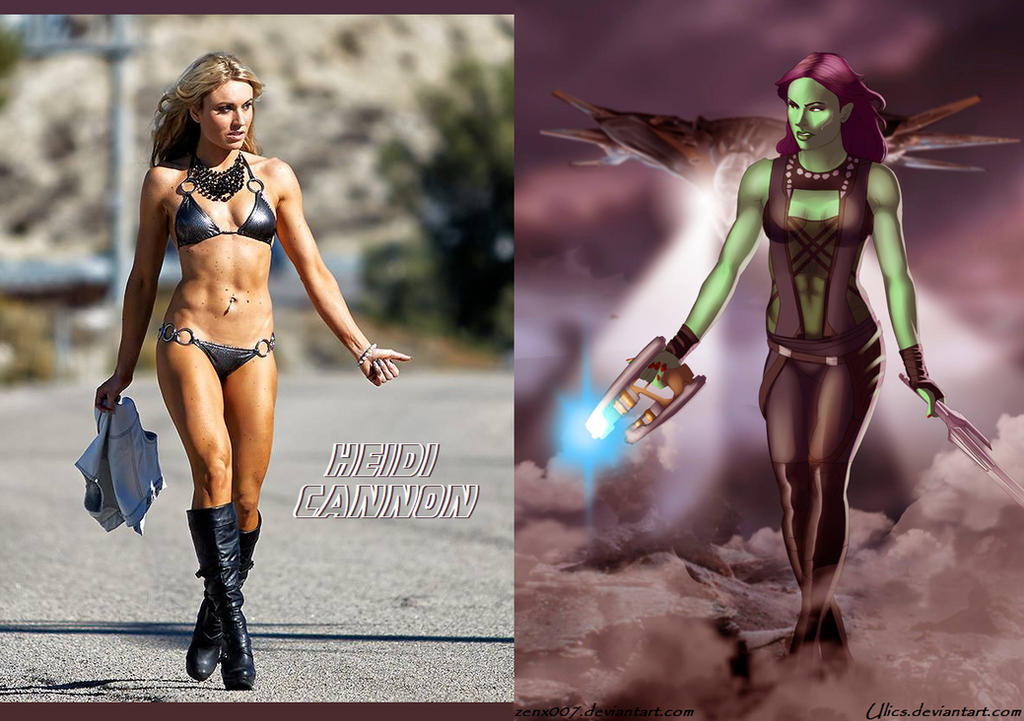 Heidi Cannon Is Galaxy Guardian Gamora By Ulics by zenx007