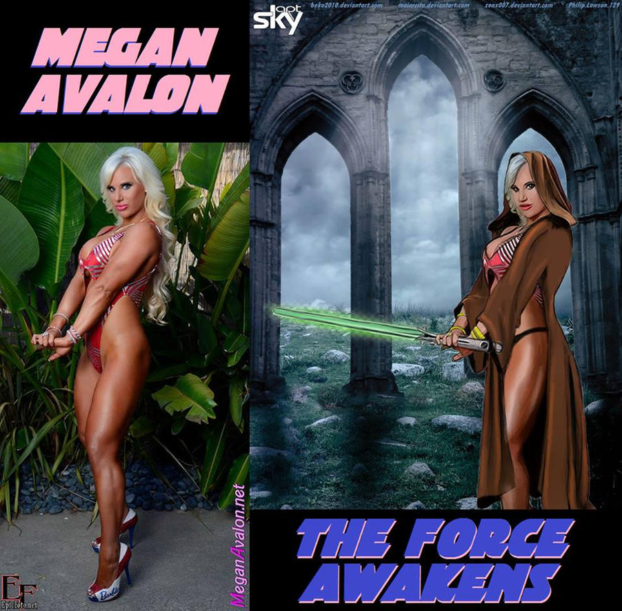 Megan Avalon Awakens The FORCE by beko2010 by zenx007