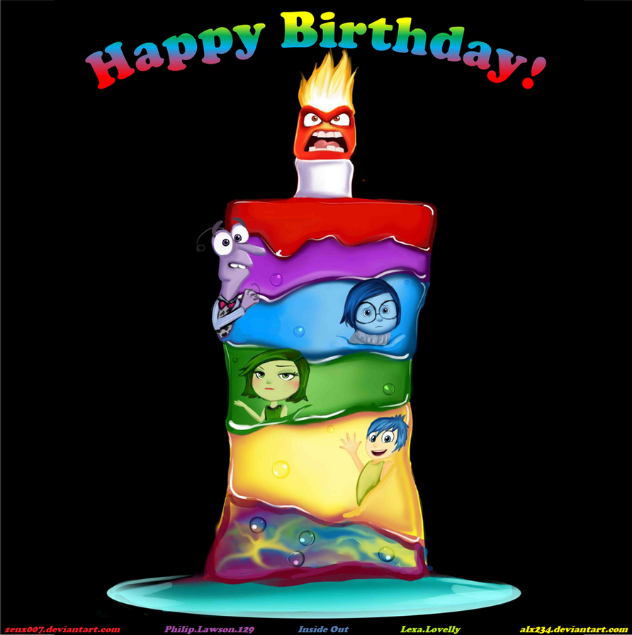 Happy Birthday From The Inside Out By Alx234 By Zenx007 On