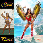 Winged Wonder Woman Gina Pierce By JAton-Ra