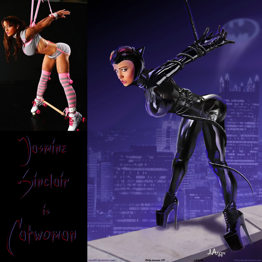 CORRALLED Catwoman Jasmine Sinclair By JAton-Ra by zenx007