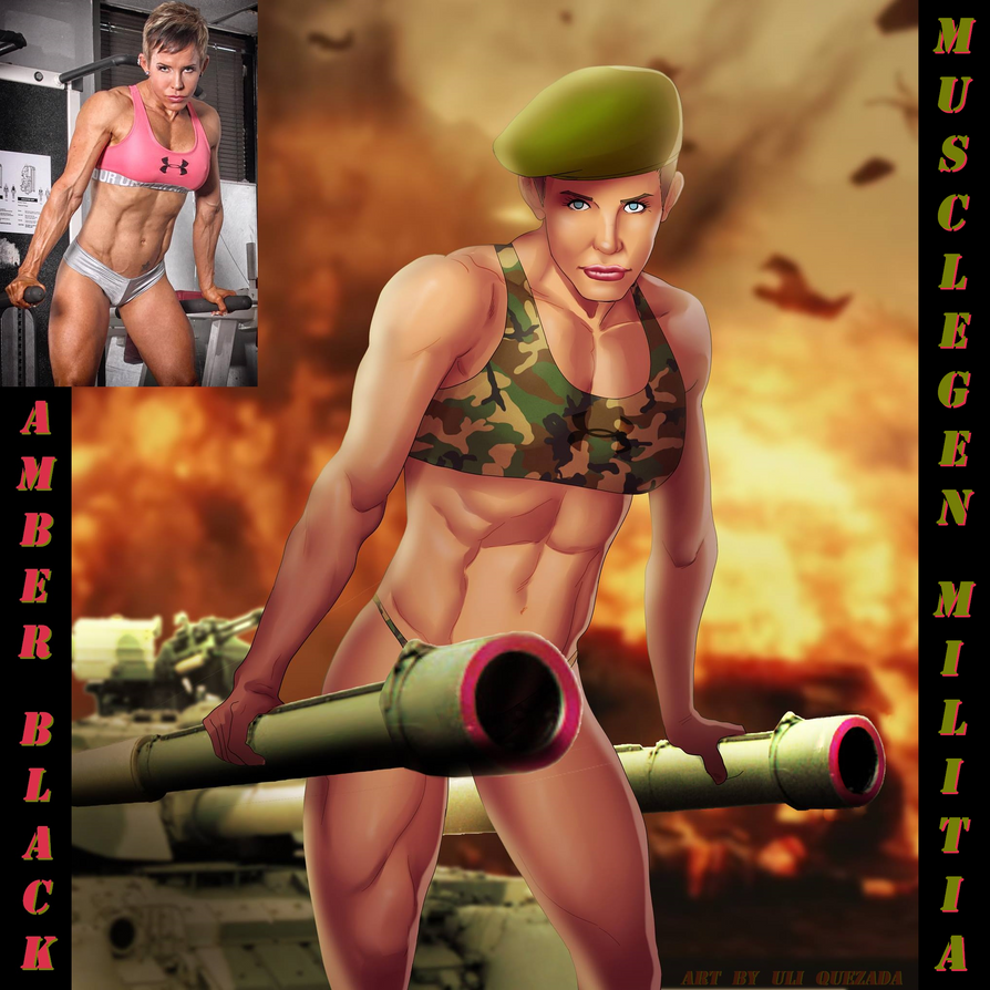 VOTE Amber Black For Musclegen Militia By Ulics by zenx007