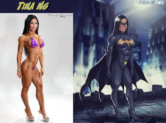 Bare-Chested Batgirl Tina Ng By Ulics by zenx007